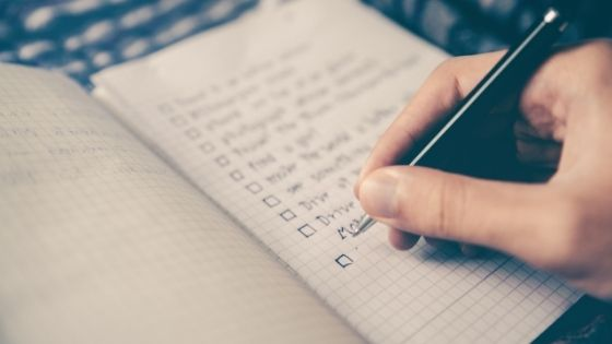 writing your faith goals and gratitude list